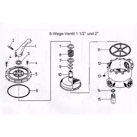 ersatzteile kern 6 wege ventil 1 1 2 f hrungsgleitring holiday pool hirsch ug. Black Bedroom Furniture Sets. Home Design Ideas